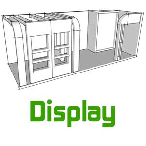 display gallery booths دیسپلی گالری